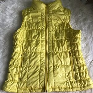 NY &Co. yellow puffer vest